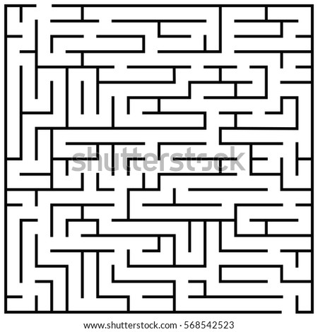 Maze Puzzle Labyrinth Brain Teaser Kids Stock Vector Royalty Free