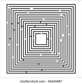 Maze Puzzle vector Illustration on a white background. Raster version also available.