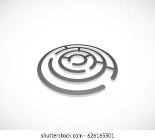 maze round 3d icon