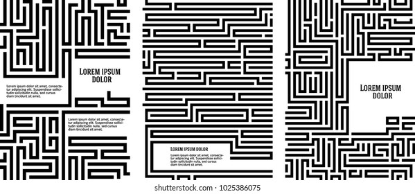 Maze texture vintage and place for your text isolated. Abstract illustration. Concept psychology, creative problem solving, logical thinking, the study of human relations, vector Illustration eps10