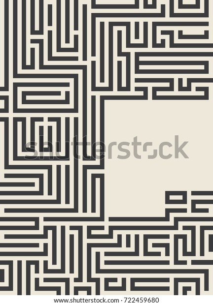 Maze Texture Vintage Place Your Text Stock Vector (Royalty Free