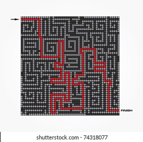 Maze-Vector illustration