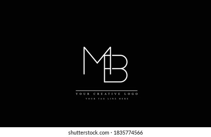 MB BM abstract vector logo monogram template
