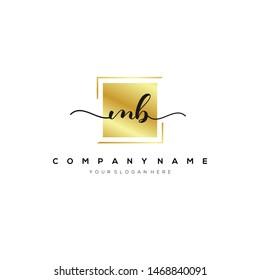 MB handwriting initial logo template vector.
