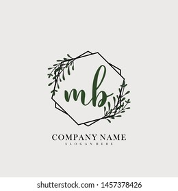 MB Initial beauty floral logo template