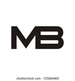 MB initial letter logo design template vector
