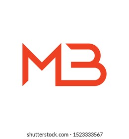 MB initial letter logo template vector icon design