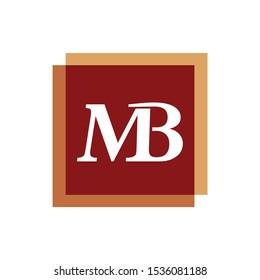 MB Initial Logo Square Shape