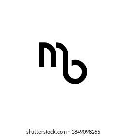 MB letter icon design on WHITE background.Creative letter MB/M B logo design. MB initials Logo design.