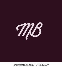 MB Letter Logo, Icon, Vector element design
