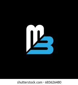 MB logo designed using initials letter M and B in editable vector format.
