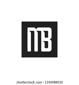 MB logo. M B letter symbol for logotype icon vector