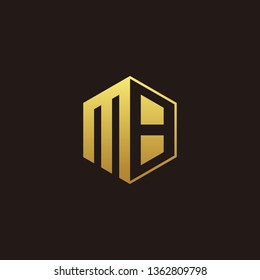 MB Logo Monogram with Negative space gold colors