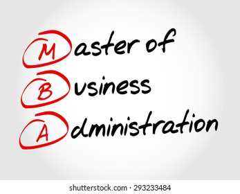 MBA - Master of Business Administration, acronym business concept