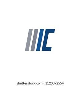 mc accounting letter logo vector