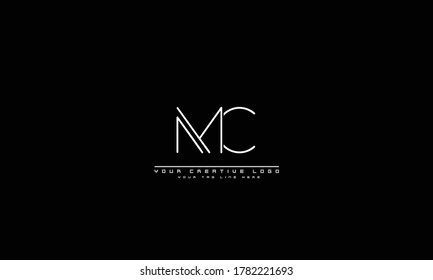 MC CM abstract vector logo monogram template