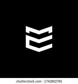 MC CM Initials Logo Vector