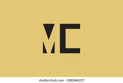 MC CM Letter Initial Logo Design Template