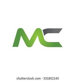 MC company linked letter logo green