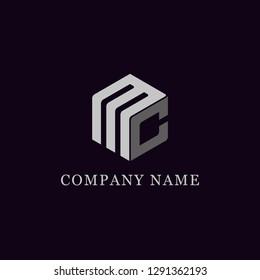MC group initial logo vector