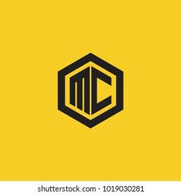 mc initial logo.modern vector illustration