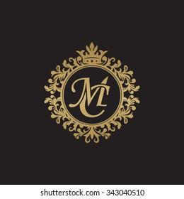 MC initial luxury ornament monogram logo