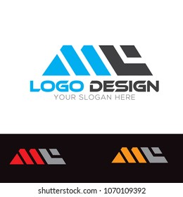 MC Letter Logo Design Template Vector EPS