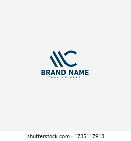 MC Letter Logo Design Template Vector