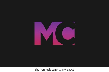 MC Letter monogram,Logo Design with Creative Modern Trendy Typography