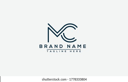 MC Logo Design Template Vector Graphic Branding Element.