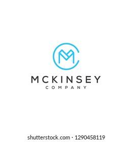 MC monogram logo design
