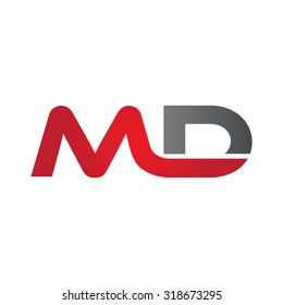 MD company group linked letter logo