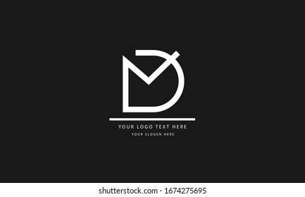 MD DM abstract vector logo monogram template