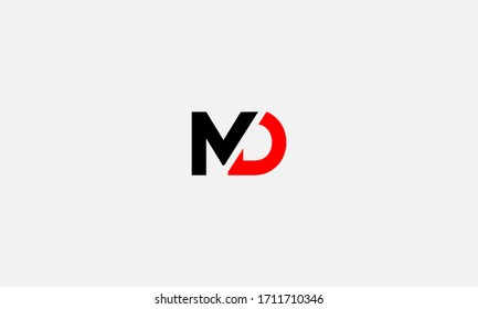 MD or DM letter logo. Unique attractive creative modern initial MD DM M D initial based letter icon logo