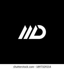MD or DM abstract outstanding professional business awesome artistic branding company different colors illustration logo