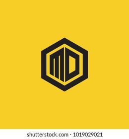 MD Initial Logo Template Vector icon design