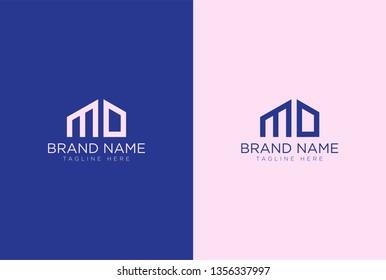 MD letter logo design template elements - vector