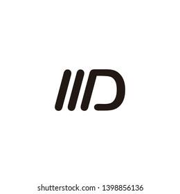 md letter vector logo. wd letter vector logo