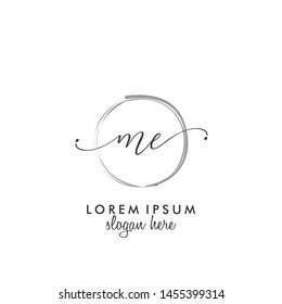 ME Initial beauty monogram logo vector