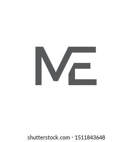 ME letter logo template vector icon design