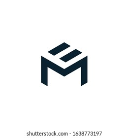 ME logo is a little explanation of the concept of the logo: a unique ME letter with clean, clear, thick, and elegant lines