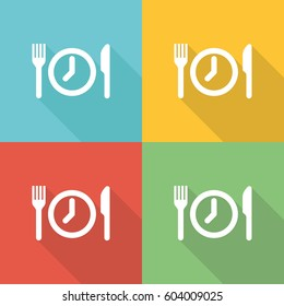 Meal Breaks Flat Icon Concept