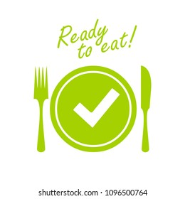 Meal ready to eat vector icon illustration isolated on white background