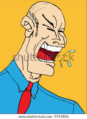 Mean Angry Boss Laughing Yelling Employees Stock Vector Royalty