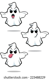 Mean Cartoon Ghost - Set 4