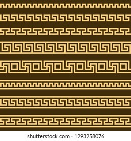 meander pattern. greek fret repeated motif. vector seamless pattern. simple repetitive background. geometric shapes. textile paint. fabric swatch. wrapping paper. classic ornament.  stylish texture