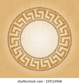 Meander seamless ornament, stone tile pattern, Greek Key Background Pattern, vector