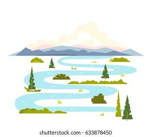 Meandering River Landscape