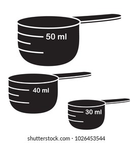 Measure cups. Vector set