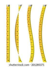 Measure design over white background, vector illustration